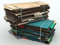 Cardboard stack bale