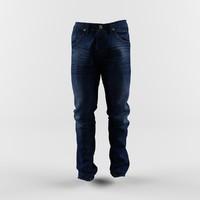 3D jeans classic pants