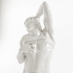 3D michelangelo - dying slave