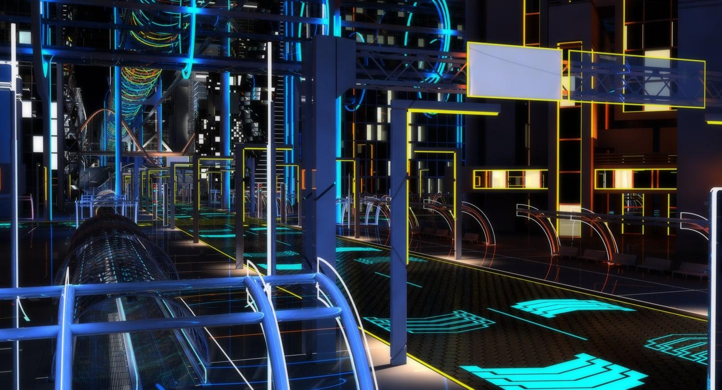 Future City 3D Models for Download   TurboSquid
