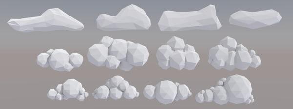 12 vr clouds polys 3D