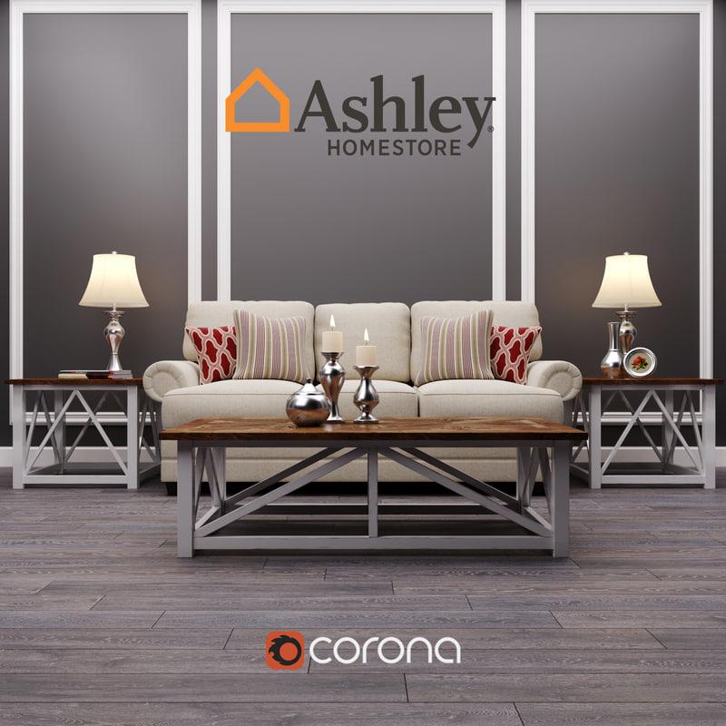 3D sansimeon stone living room model