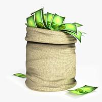 money bag 3D model