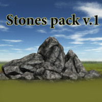3D rocks stone 1