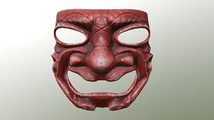 3D model mask samurai