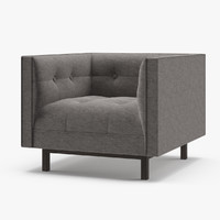 restoration hardware madison upholstered 3D model