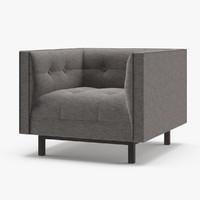 restoration hardware madison upholstered 3D model