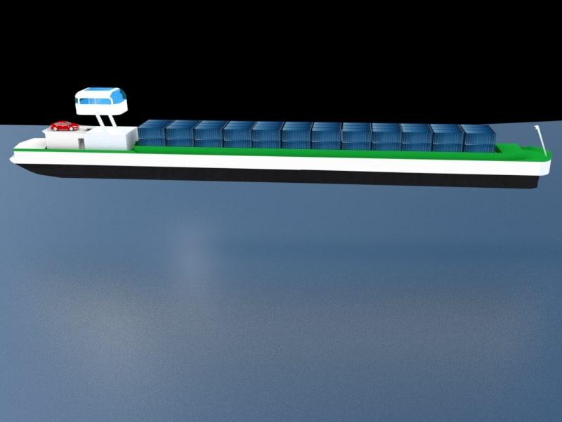 futuristic inland container cargo 3D model