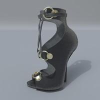 3D heels shoes
