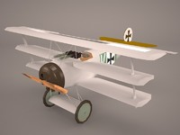 airplane fokker d1 1 3D model