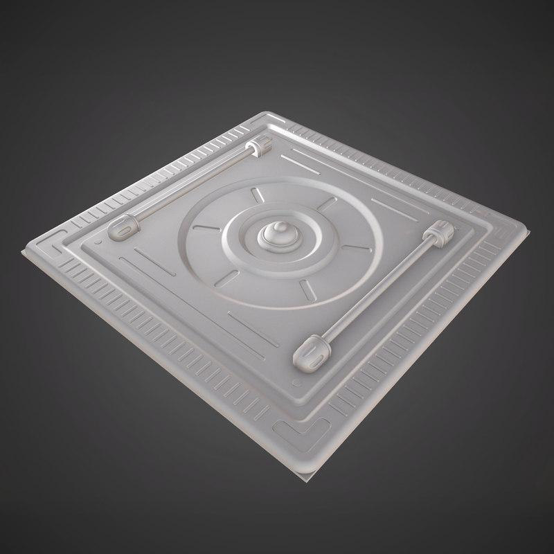 sci-fi asset 3D model