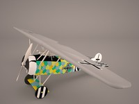 airplane fokker d7 3D model