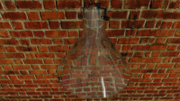 3D glass lamp shade light model