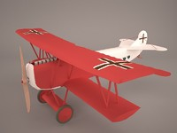 airplane fokker r7 3D model