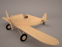 3D model airplane fokker