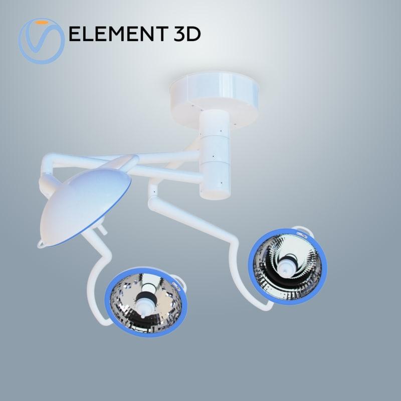 trio mount metal halide 3D model