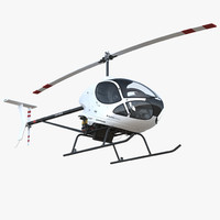 3D ultra light helicopter cicare