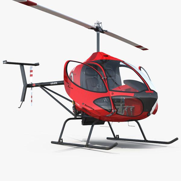 sport helicopter cicare 8 model