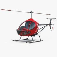3D model sport helicopter cicare 8