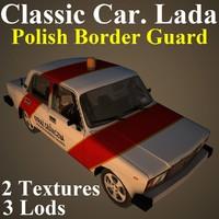 classic car lada bor 3D model