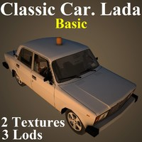 3D classic car lada basic