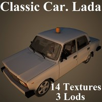 classic car lada 3D model
