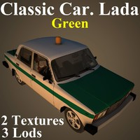 3D classic car lada gre model