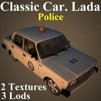 classic car lada pol 3D