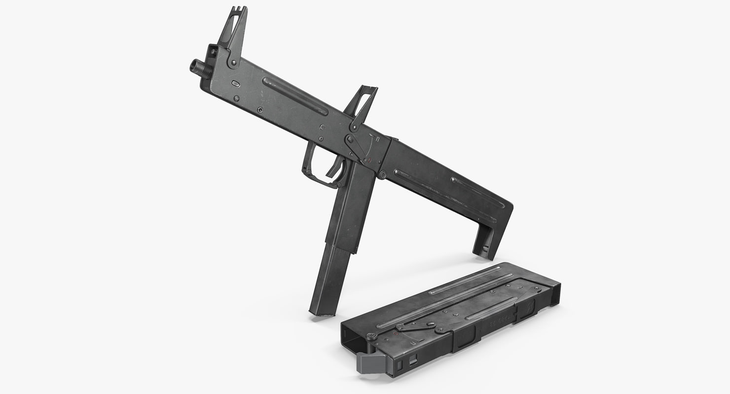 3D model machine pistol pp-90 smg