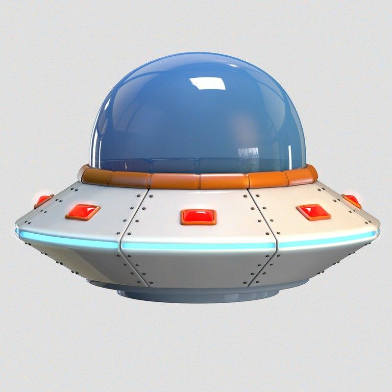 3D cartoon ufo