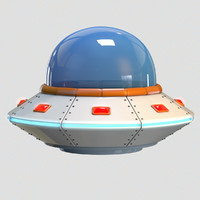 3D cartoon ufo