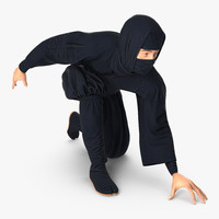 3D japan ninja model