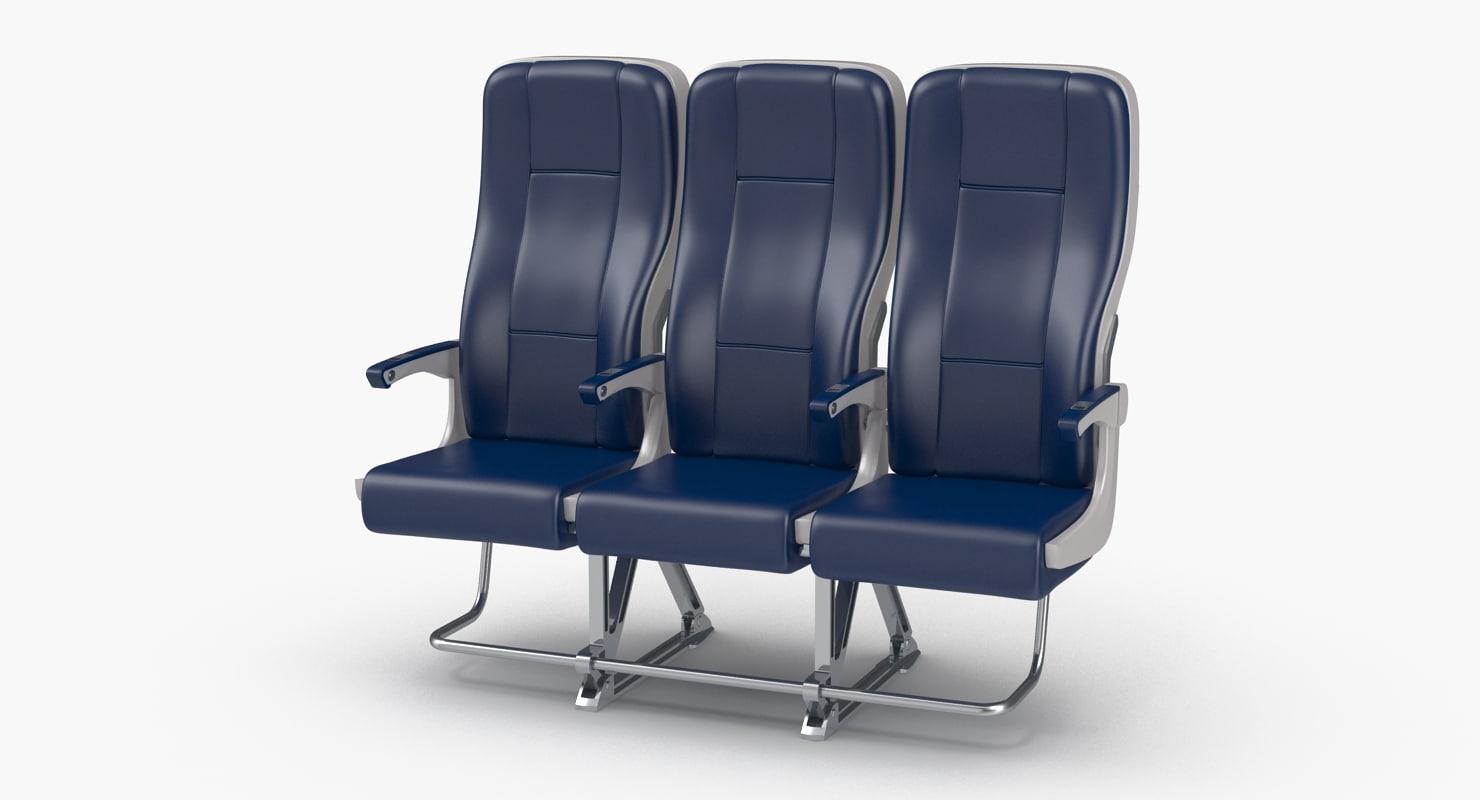 aircraft economy class passenger 3D model