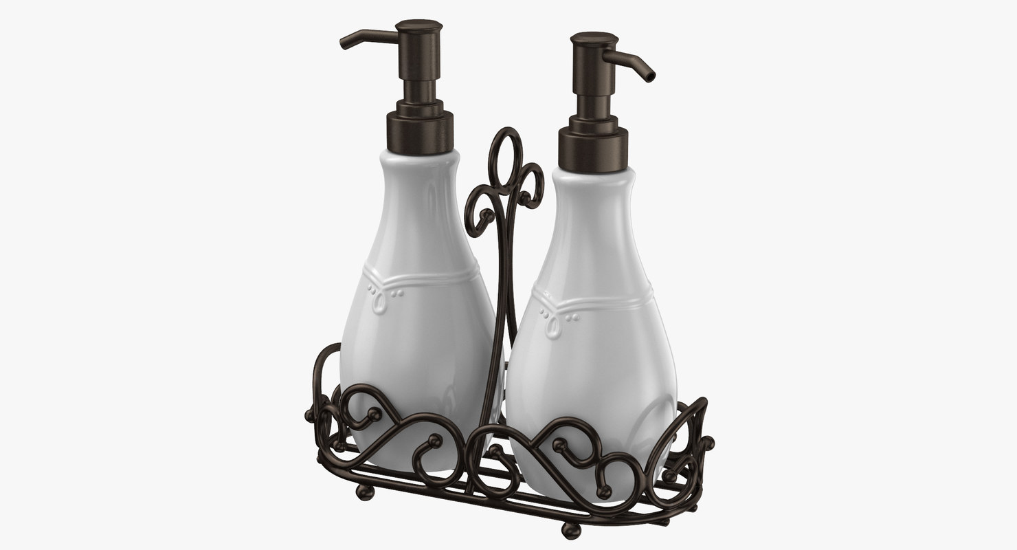 3D hand soap pump dispenser