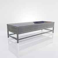 modern metal coffee table 3D model