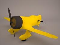3D plane gee bee