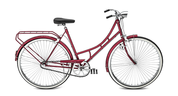 3D classic red bike