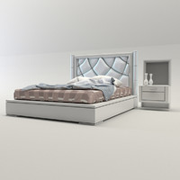 bed bedroom 3D model