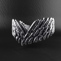 3D angel wings ring model