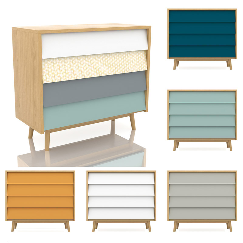 pack scandinavian commode colors model