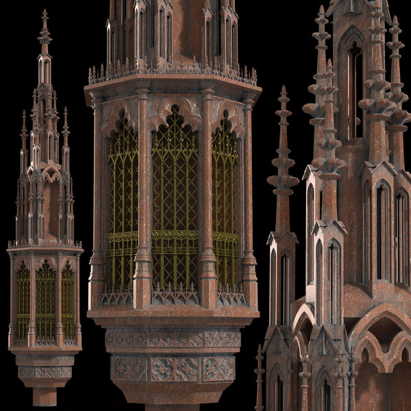 3D realistic gothic tabernacle