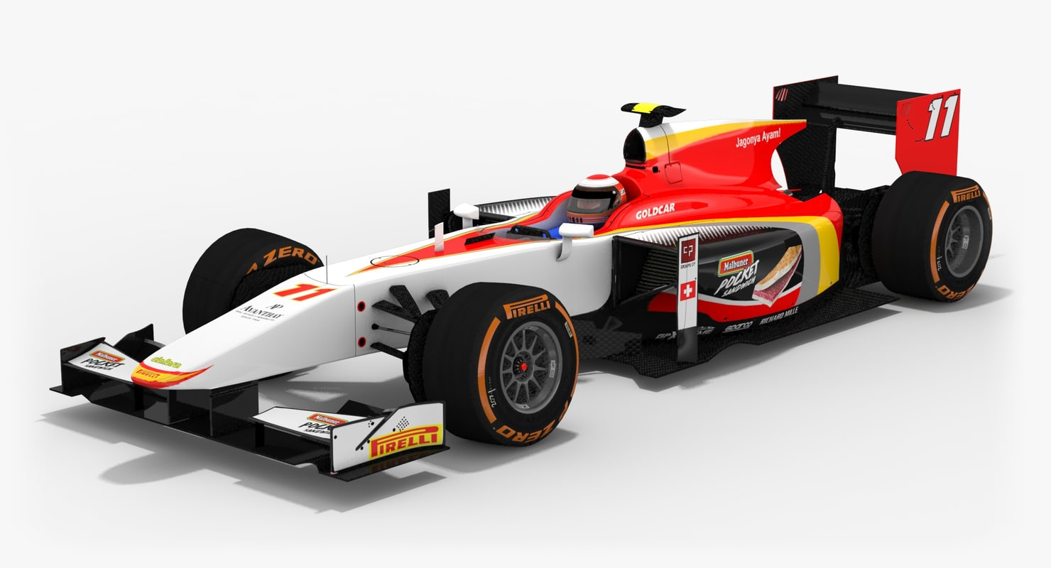 3D campos racing formula 2