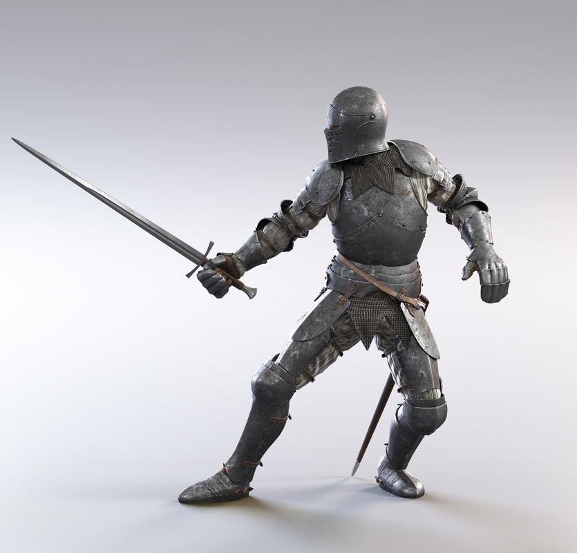3D fullplate knight model