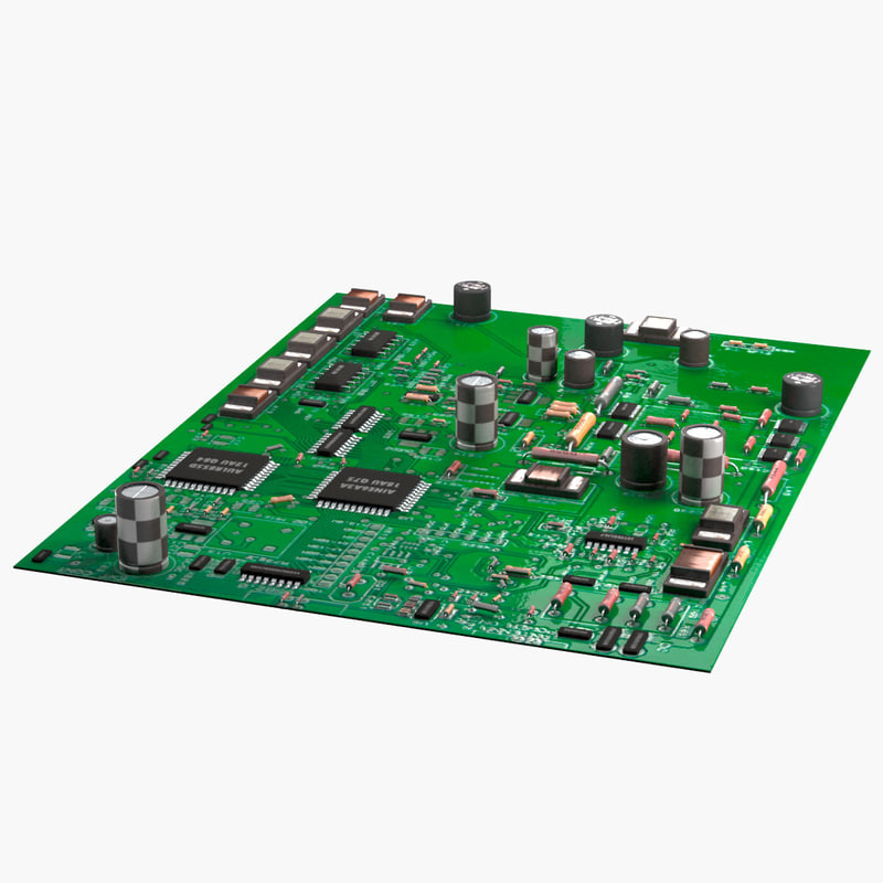 electronic circuit board 3D model