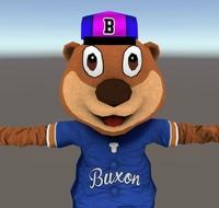 3D bear mascot character model