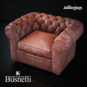 3D busnelli grande walzer armchair
