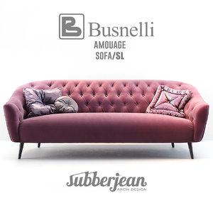 3D model busnelli amouage sofa sl