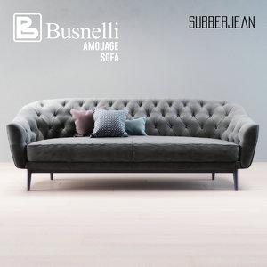 busnelli amouage sofa 3D model