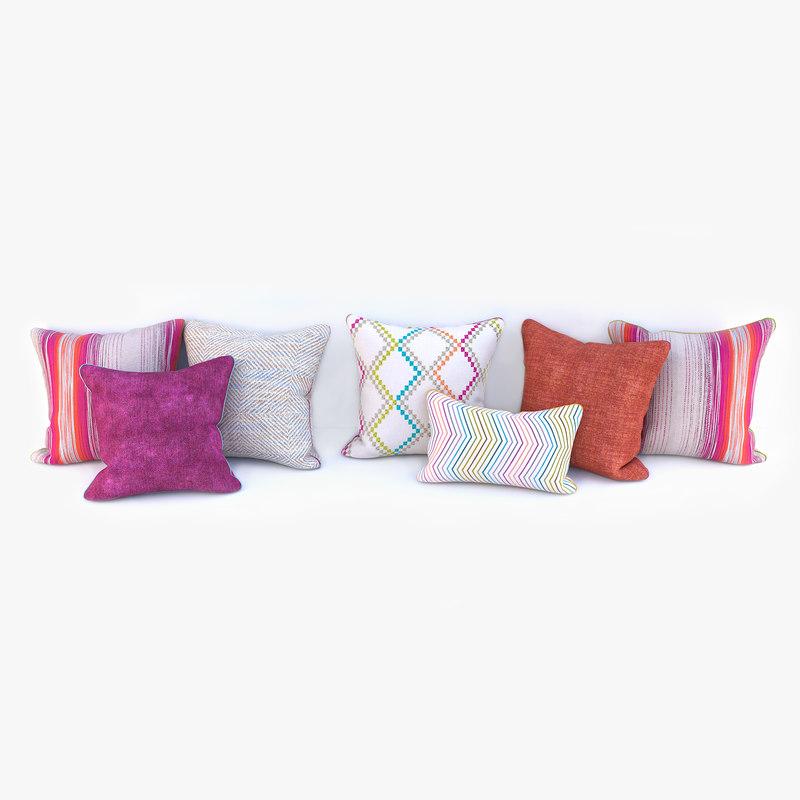 Sofa Pillows 3d Model Turbosquid 1150699