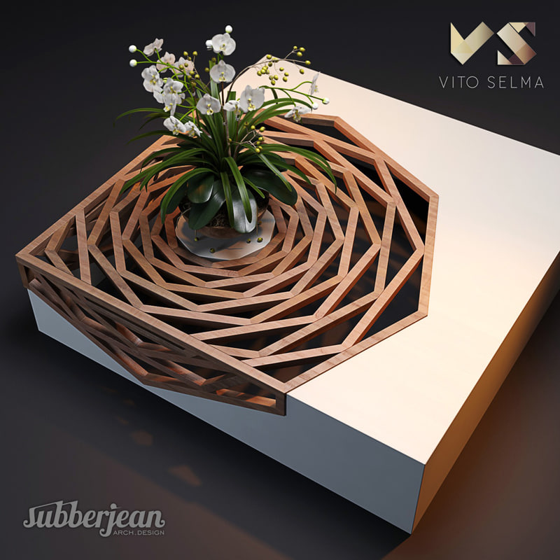 3D model hanako coffee table vito